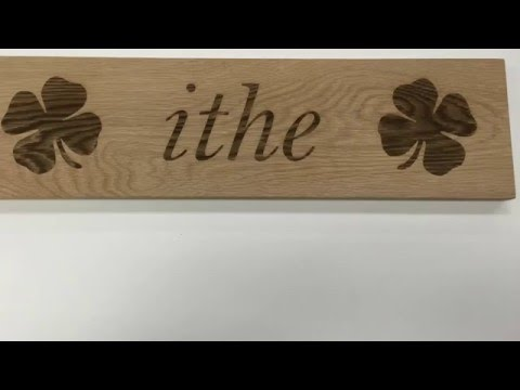 'Eat' in the Irish language - laser engrave