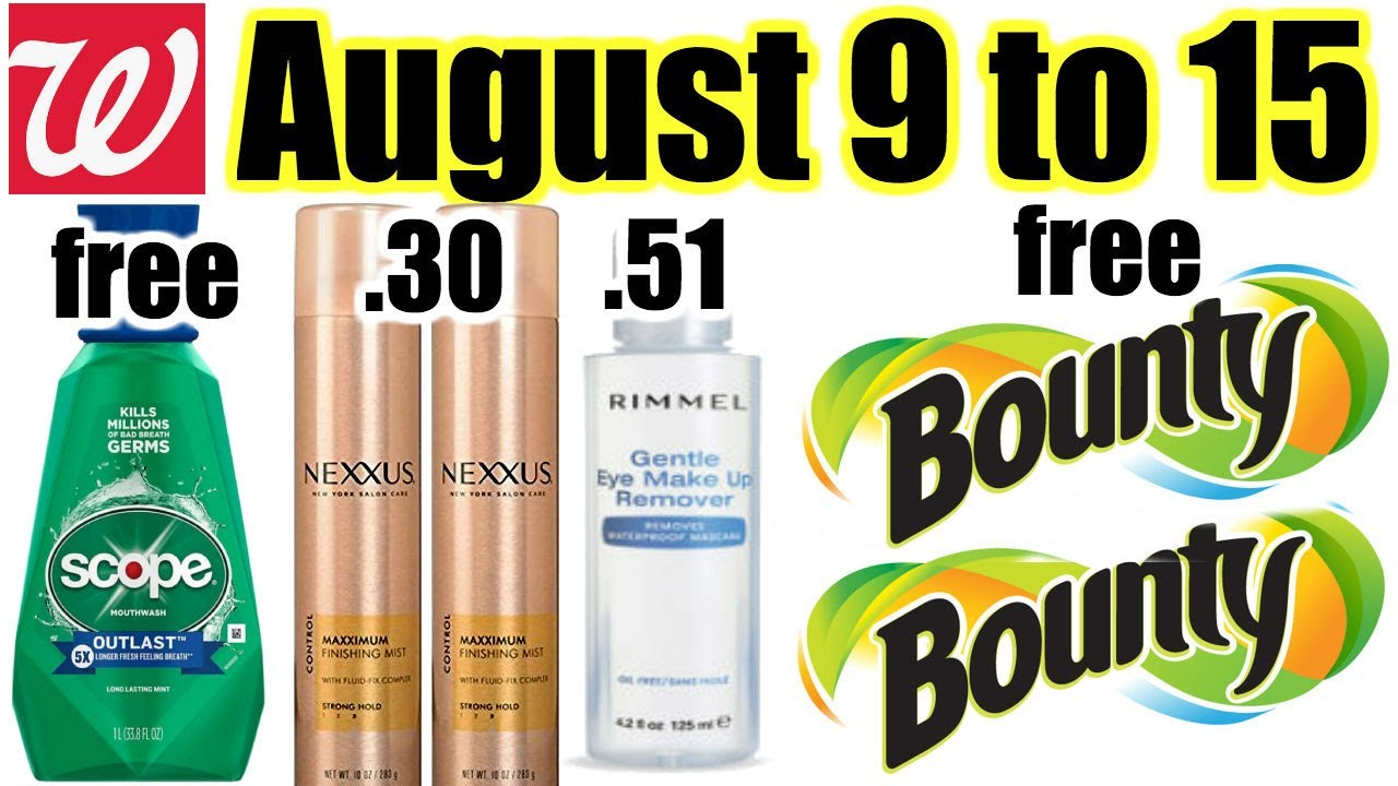 Walgreens **HOT DEALS** Aug 9-15!