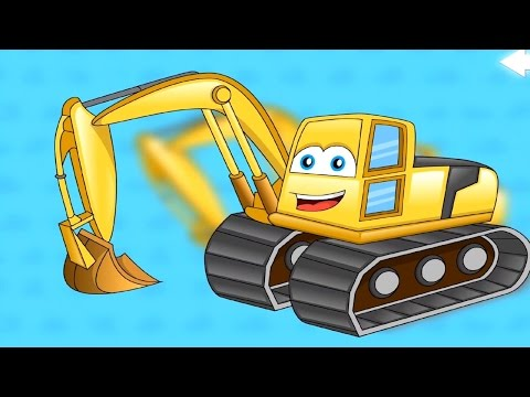 เกมส์ ต่อชิ้นส่วนรถ แม็คโคร รถตักดิน -วิดีโอสำหรับเด็ก
