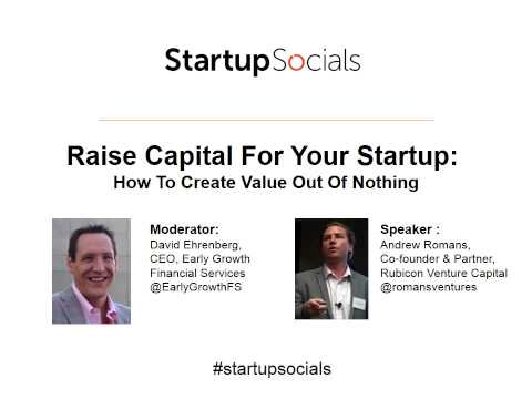 Raise Capital For Your Startup: How To Create Value Out Of Nothing