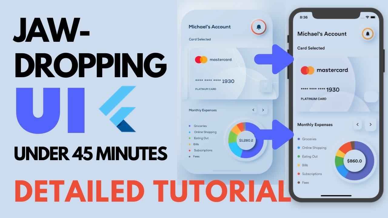 Build Amazing UI in flutter   Detailed Tutorial   Learn to make complex UI easily