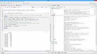 كيفية إنشاء التردد النسبي الجدول مع الطبقة فترات في ر. [HD]