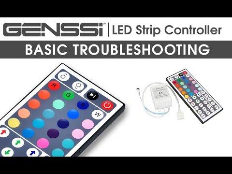 GENSSI RGB LED Strip with 44 Key IR Remote Control Guide