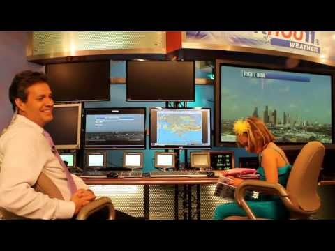 Grace Meets with Chief Meteorologist David Paul