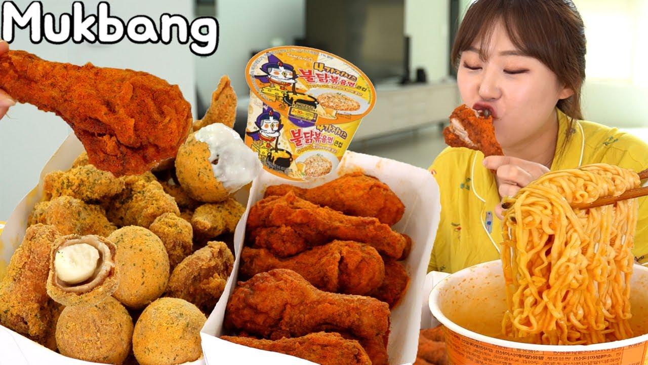 뿌링뿌링 뿌링클, 뿌링맵소킹, 4가지치즈 불닭볶음면 꿀조합 먹방 Mukbang