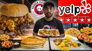 Yelp's Highest Rated Restaurant's | Full Day Of Cheating
