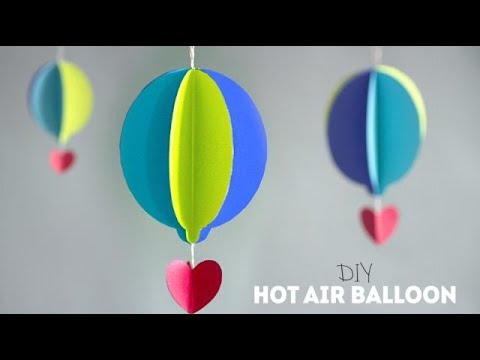 DIY Paper Hot Air Balloons