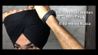 How to tie Patialashahi Wattan wali Pagg ▪️ Best Turban Tips