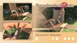 Deckchair Gartenliege Steamer jetzt aus FSC Eukalyptus