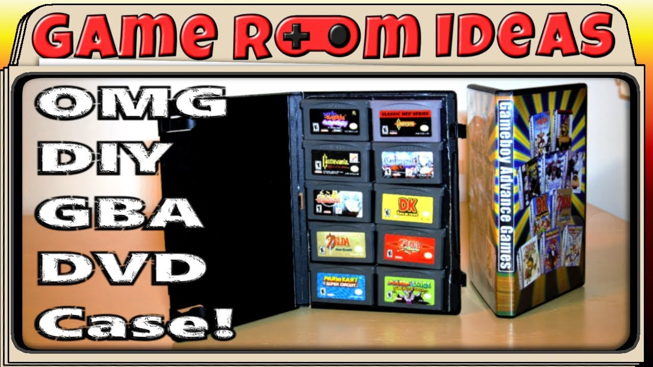 Diy Game Boy Advance Game Cases Game Room Ideas Youtube