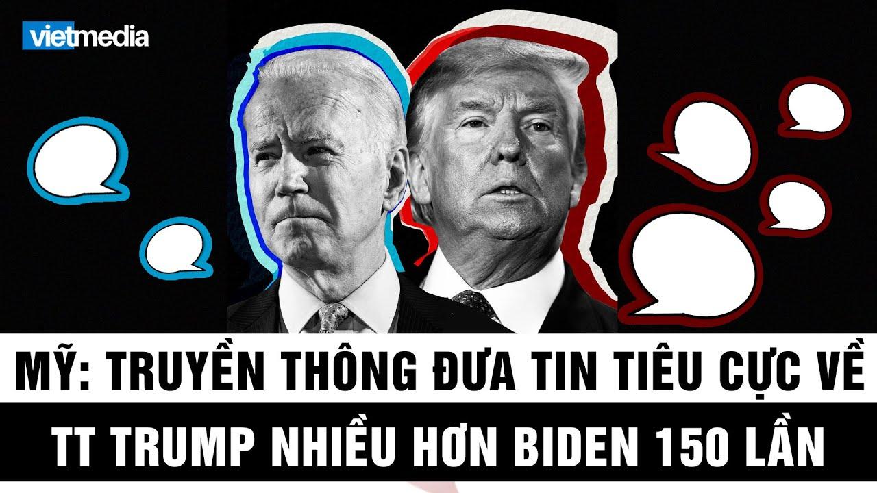 Nghiên cứu cho thấy truyền thông đưa tin tiêu cực về ông Trump nhiều hơn ông Biden gấp 150 lần