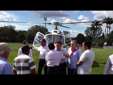 Chegada do Governador Marconi Perillo a Jaraguá para inaugurar GO-080