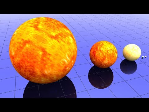 WOW!!! Star Size Comparison - The biggest Stars in Universe | IvIr Kids TV