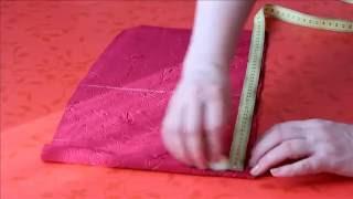 кроим рукав на ткани