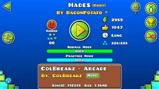 [GD] HADES BY BACONPOTATO (DAILY LEVEL) (ALL COINS) | GEOMETRY DASH 2.13 Video