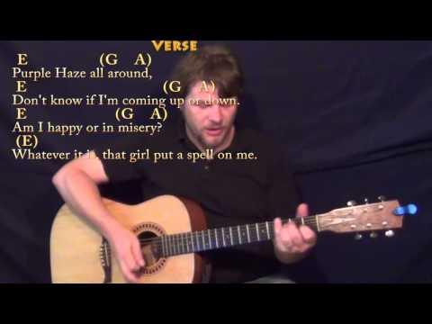 Purple Haze - Strum Guitar Cover Lesson with Chords/Lyrics