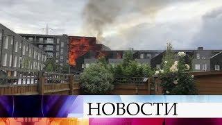 В Лондоне выясняют причины крупного пожара в элитном жилом доме.