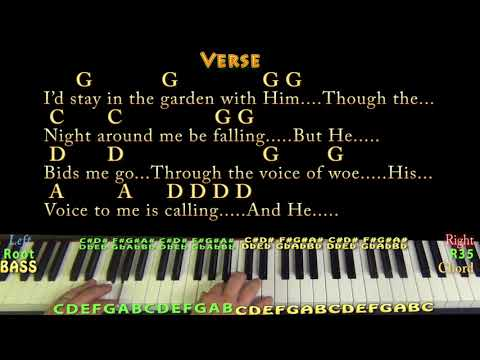 In the Garden (Hymn) Piano Cover Lesson in G with Chords/Lyrics - Arpeggioa