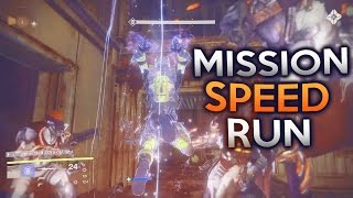 Rise of Iron Mission SpeedRun (The Walls Come Down 2:26) Destiny