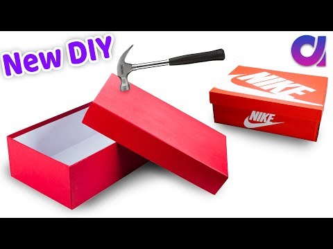 How to reuse Waste shoe boxes at home | Best out of waste | Artkala 533