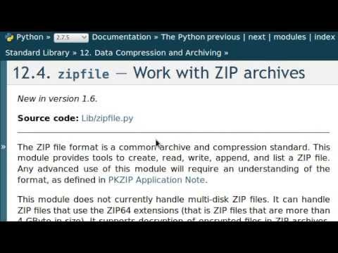 Python [zipfile] 01 Creating a  ZIP File