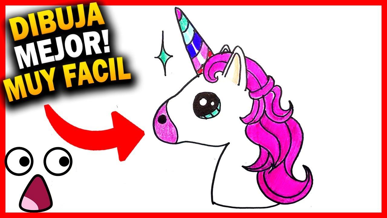 Como Dibujar Un Unicornio Facil Para Nnos Kawaii Paso A Paso