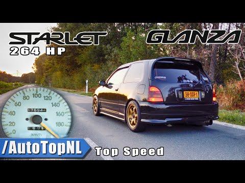 264HP Toyota Starlet Glanza BIG TURBO 100-200km/h DRAGY GPS By AutoTopNL