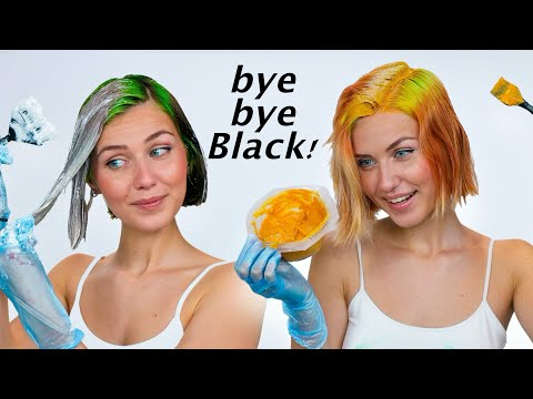 Bleaching my Black Hair and Dyeing it COPPER