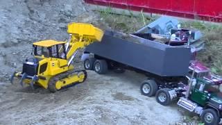 rc loader and dump truck @PFB monticello meet Central plains rc club