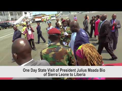 President Julius Maada Bio of Sierra Leone, visit  to Liberia.
