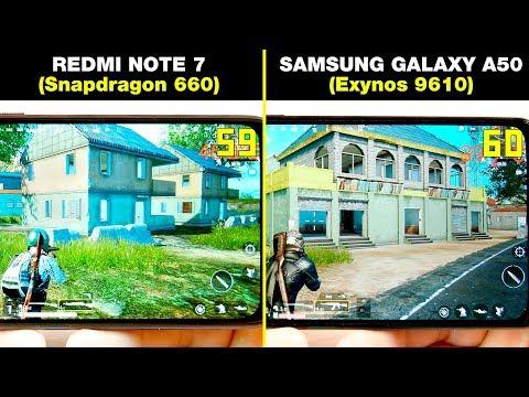 REDMI NOTE 7 (Snapdragon 660) Vs SAMSUNG GALAXY A50 (Exynos 9610) СРАВНЕНИЕ В ИГРАХ! GAME TEST