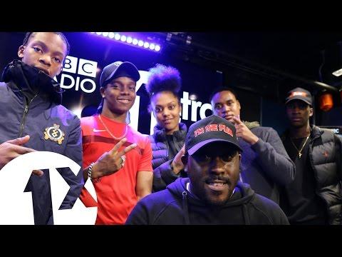 Kenny Allstar wPoundz Berna Dis & Lil M Dot on BBC 1Xtra