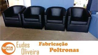 Poltronas redondas revestida em corino /round armchairs
