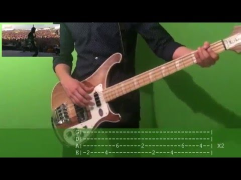 twenty one pilots Ride Bass Cover with tab