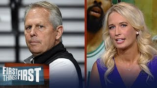 Sarah Kustok isn't buying Danny Ainge's comment on LeBron leaving the East | NBA |FIRST THINGS FIRST
