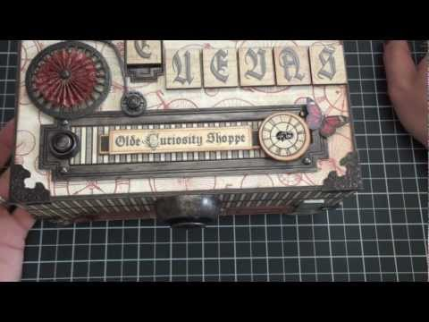 Graphic 45: Olde Curiosity Shoppe Altered Cigar Box