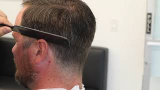 Step by Step Tutorial: How to clipper over comb and scissor cut the top properly