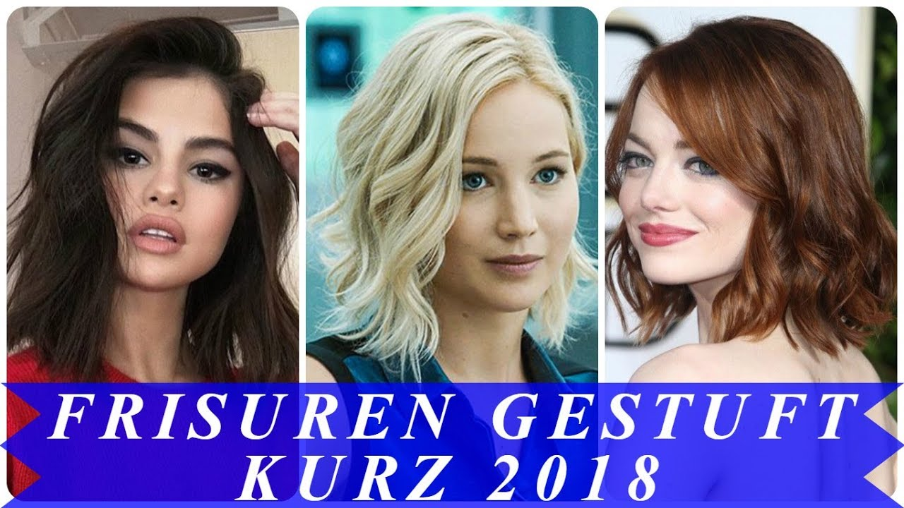 Schöne Frisuren Gestuft Kurz 2018 Youtube