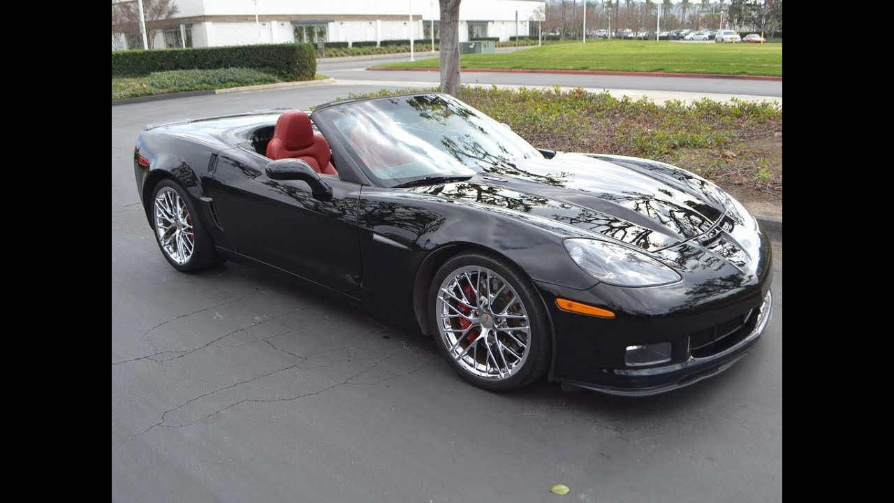 2013 Corvette 427 Convertible, Black/Red For Sale By Corvette Mike