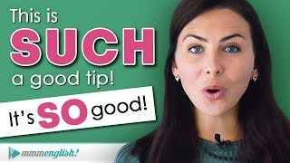 How To Use SO & SUCH  |  Add Emphasis in English!