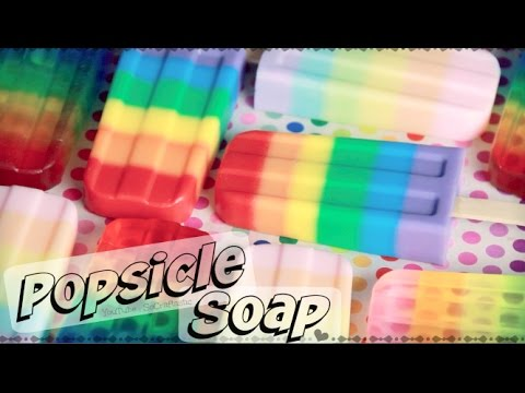 DIY RAINBOW POPSICLE SOAP - Soap Making For Beginners | SoCraftastic