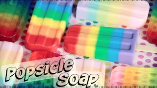 DIY Rainbow Popsicle Soap - Melt & Pour Soap Making How To