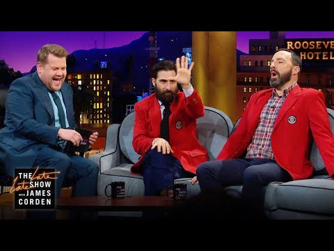 Jason Schwartzman & Tony Hale Love CBS Blazers & Beards