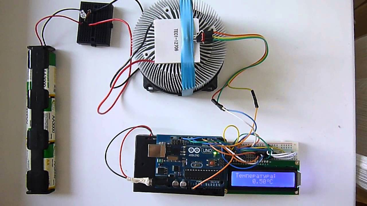 Peltier Thermoelectric Cooler Tec1 12706 Arduino Youtube