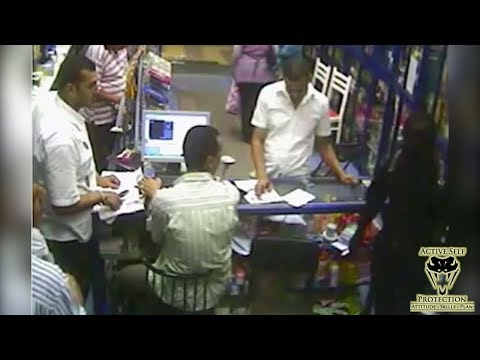 Clerk Uses Smart Strategy to Stop Robber | Active Self Protection