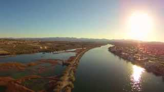 Yuneec Q500 Flying over Marsh  Laughlin,NV.