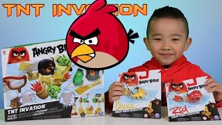 Unboxing Angry Birds Movie TNT Invasion Playset With Red Bomb Chuck And Piggy Ckn Toys