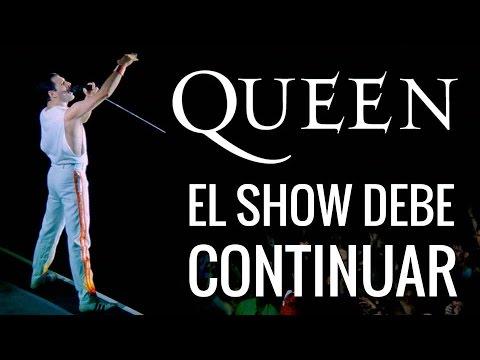 Biograf a de queen y freddie mercury en espa ol youtube for El espectaculo debe continuar