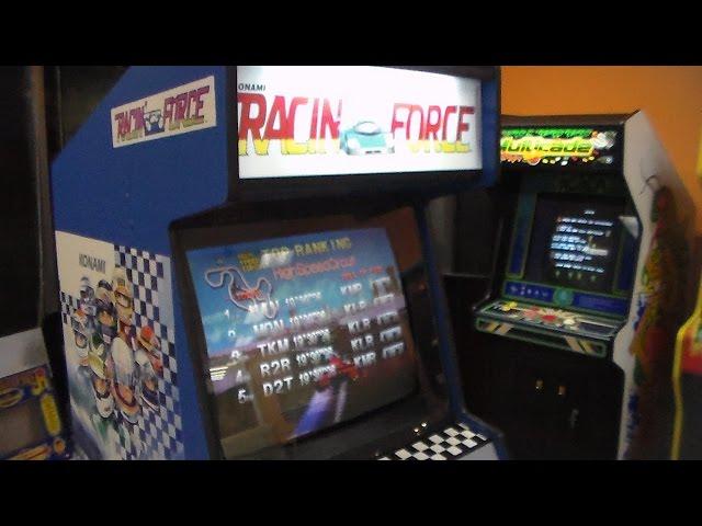 1994 Konami Racin' Force Arcade - Overview, Game Play Video