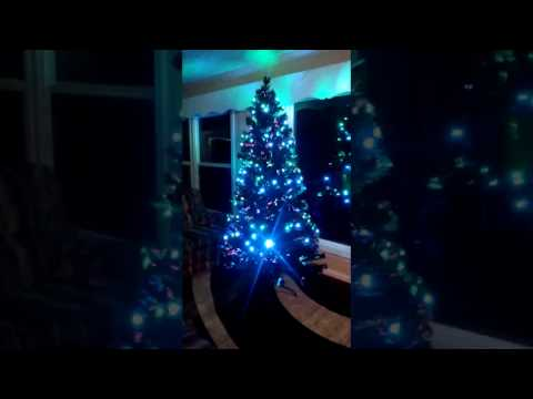 Walmart Pre-Lit Christmas Tree with LED Multicolor Lights and Stand
